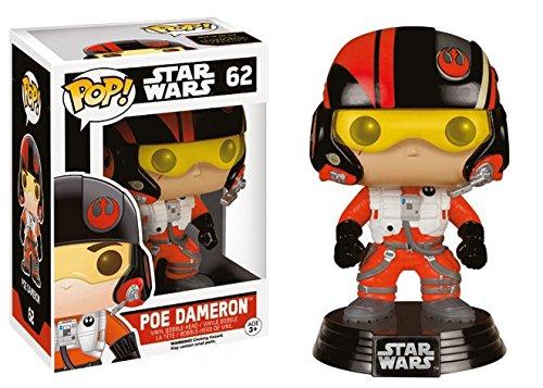 Funko Pop Star Wars - Figura de Vinilo PoE Dameron, Multicolor, 9 cm