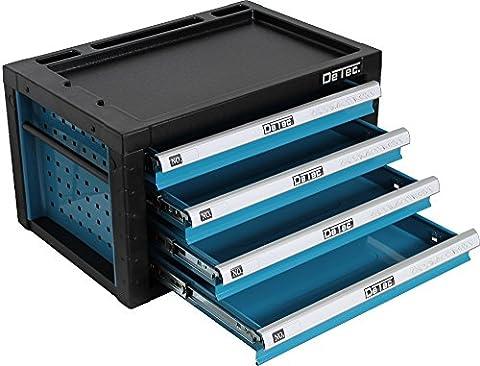 DeTec. Werkzeugkiste in blau - Viel Platz für Ihr Werkzeug