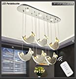 Suspension LED 1668Lune Cristaux Télécommande couleur de la lumière réglable A + 87.00 W
