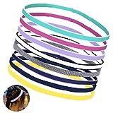OZUAR 8 Stück Stirnbänder von Damen Herren Kinder Sommer Sport, Schweißband Kopf Stirn von Schwarz Pink Zum Grün Kinder Frauen Herren - für Tennis Running Wander Fahrrad Yoga(8 Farben)