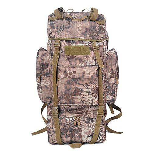 Morral im Freien Wandern Reisetasche 100L Große Kapazität Freizeit Reisen Taschen Sport Taschen-Rucksack für Männer und Frauen zu Fuß Wüstencamouflage