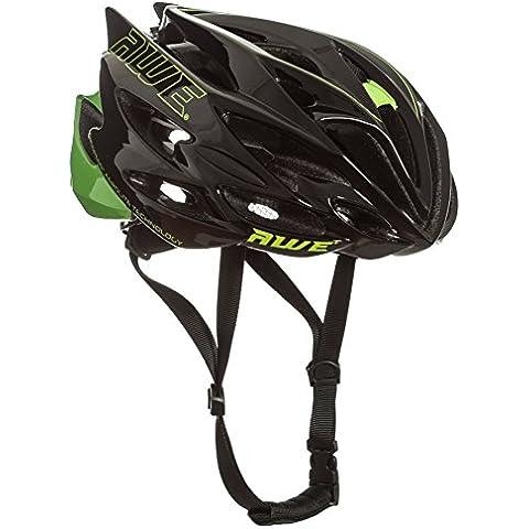 AWE® AWESpeed™ SOSTITUZIONE DI CRASH GRATIS 5 ANNI * Nello stampo di ciclismo su strada uomini adulti Casco nero verde 56-58cm