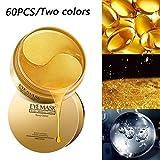 ZHENDUO 60 stücke Gold Kollagen Augenmaske Entfernen Augenringe Whitening Straffende Schlafmaske Feuchtigkeitsspendende Augenpads, Augenklappe, Anti Aging, Anti-falten (Gold)