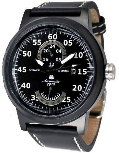 "Automatik Uhr ""Power Reserve Anzeige u. 24h"" Aeromatic A1357"