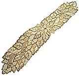 Espamira Tischdecke Blätter Herbst Tischläufer Zierband Braun Läufer Tischband 30x160 cm oval