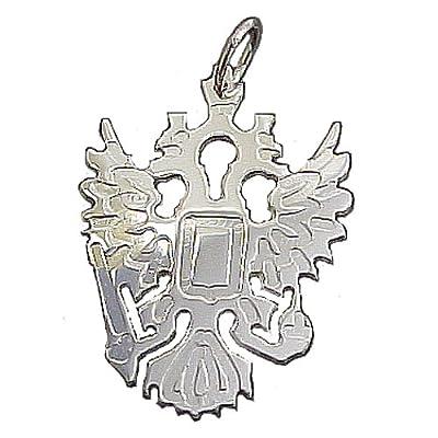 S.W.w. Schmuckwaren Damen Anhänger Russischer Adler in 925 Silber