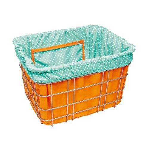 Electra Bicycle Electra Basket Liner Orange Polka Korbeinsatz Wende Tasche Gepäck, 806015