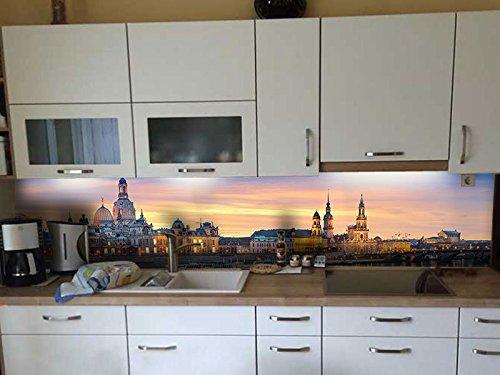 Dalinda® Küchenrückwand Küchenboard Küchenrückseite mit Design Dresden Canaletto Elbufer KR048