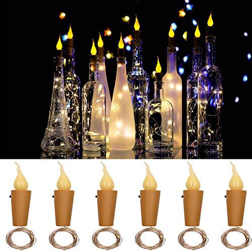 KINJOHI DIY 10 Stücke Weinflasche Lichter Flamme Kork Firefly Handwerk Kerze Lampe Für Flaschen Party Hochzeit