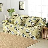 Fiesta Floral Geometic Printing Spandex Stretch Sofa schützende Hussen Elastische Sofa Cover Couch Abdeckung für Wohnzimmer: 23, Zwei-Sitzer