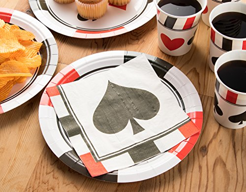 Blue Panda Casino Party Supplies     Serves 24     Includes Plates  Knives  Spoons  Forks  Cups Napkins Perfect Birthdays Casino Poker Parties