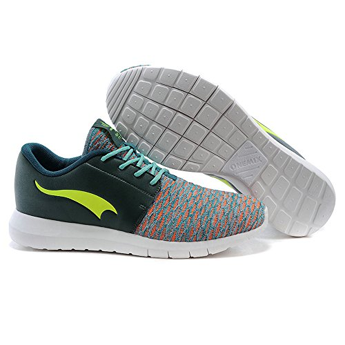 Onemix all'aperto Air Uomo Donna Scarpe da Ginnastica Corsa Sportive Running Sneakers Fitness Interior Casual all'Aperto Verde scuro