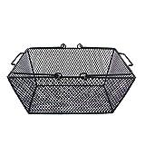 Baffect Einkaufskorb Metall Gitterkorb Eisendraht Korb mit Griffen Aufbewahrungskorb Schirmkorb Metallkorb mit beweglichen Handgriffe, Schwarz
