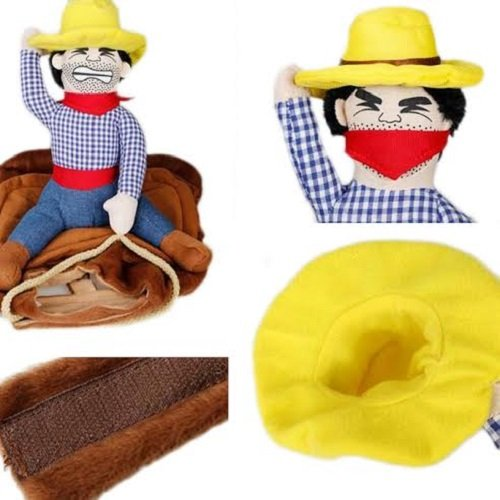 UK Verkäufer–Marke New Funny Cowboy Kleiner Hund Pet Rider Kostüm Bull Western Pet Cat (Hund Cowboy Kostüme)