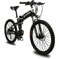 Extrbici VTT Mountain Bike XF770 17x26 vélo électrique Pliant Montagne 500 Watts 48V Shimano 27 Vitesses Alliage d'aluminium Cadre Pliable Complet Suspension Double Freins à Disque hydraulique