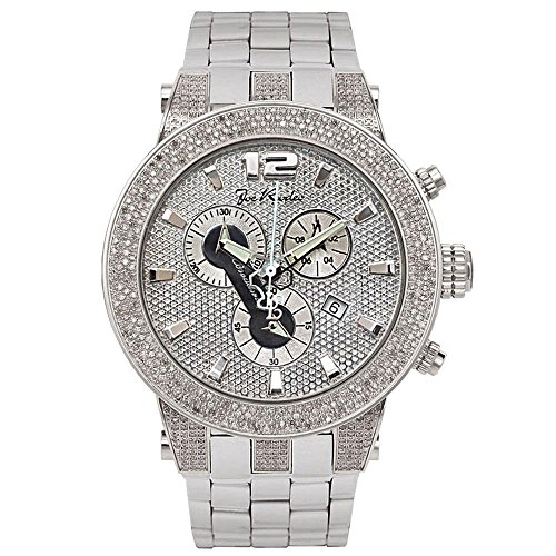 Joe Rodeo Diamant Homme Montre - BROADWAY argent 5 ctw