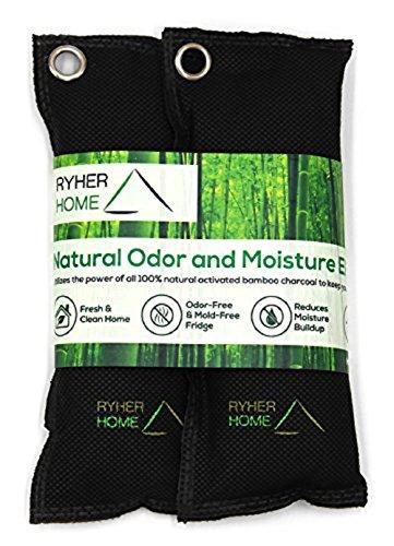 Ryher 2X Desodorante Natural para Zapatos - Elimina el olor y absorbe la humedad