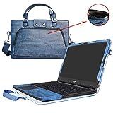 Labanema Aspire ES 15 Housse,2 in 1 spécialement conçu Étui de Protection en Cuir PU + Sac Portable Sacoche pour 15.6' Acer Aspire ES 15 ES1-572 ES1-533 ES1-523 Series Ordinateur,Bleu