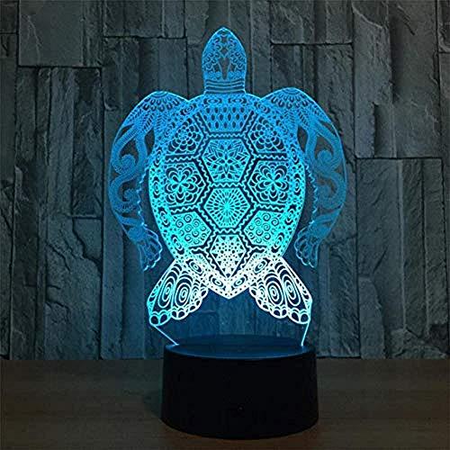 LED-Nachtlicht Turtle Moon Lamper ValentInstag Geschichte USB Lade 3D Illusion Visuelles Licht 7 Farben & Auml; Ndern Touch Control Lampe - Papier-control-board