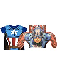 Kids Official Superhero T-Shirt & Matching 3D Pullstring Bag Pack
