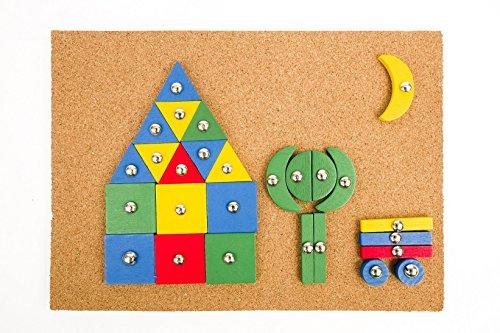 MagiDeal 100x Kinder Kinder Baukasten Stacking Cube Puzzles für Party Puzzles & Geduldspiele