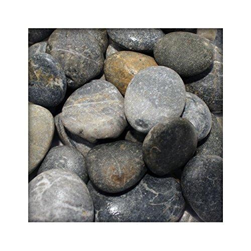 Flusskiesel Zierkies River Pebbles Gartenkies Ziersteine für Wege u. Gartenteich 25 kg Sack
