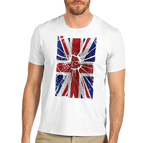TWISTED ENVY  Herren T-Shirt  Gr. X-Large, Weiß - Weiß (Art-union Jack T-shirt Flag)