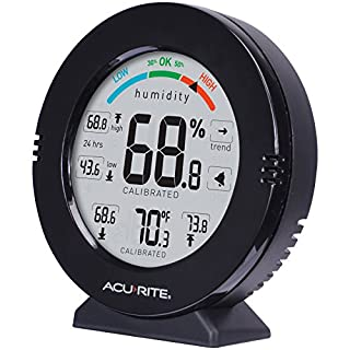 AcuRite 01080M Pro Accuracy Temperature & Humidity Monitor with Alarms