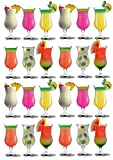 Cocktail-Gläser für Pina Colada - 460 ml - Party-Set mit 24 Gläsern