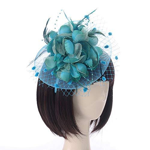 Likecrazy Damen Fascinator Hut Frauen Hochzeit Feder Haarschmuck Flapper Feder Stirnband Mädchen Klassisch Accessoires 1920er Jahre vintage Stirnband ZubehöR