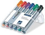 Staedtler Lumocolor Flipchart Marker 356 WP6 Bullet Tip - Assorted Colours (Pack of 6)