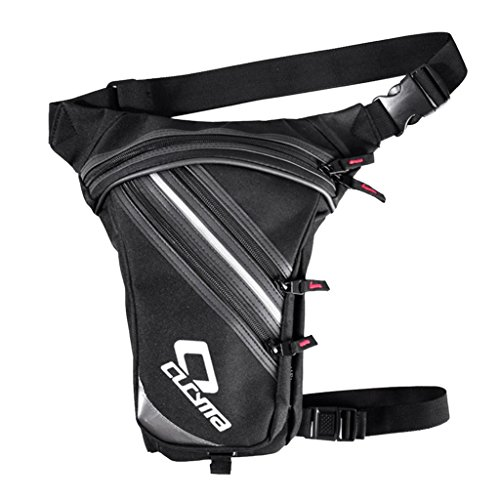 IPOTCH Verstellbarer Langer Schulterriemen Hüfttasche, Unisex Gürteltasche Beinbeutel mit Kapazität Fächer Für Sport Reisen Klettern Radfahren Joggen -