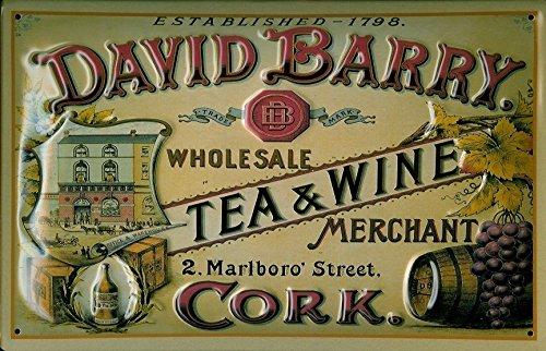cartel-de-chapa-david-barry-tea-wine-20-x-30-cm-nostalgico-retro-placa-metal-tin-sign