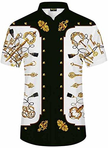 PIZOFF Sommer Herren Kurzarm Print Kleid Shirt Gr. XXL, 25250022x15