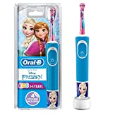 Oral-B Stages Power Kids Electric Rechargeable Toothbrush Featuring Frozen Characters, 1 Handle, 1 Brush Head, UK 2 Pin Plug for Ages 3+, for Brushing Away Halloween Treats (Packaging May Vary)