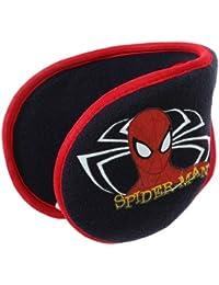 Orejeras. flexible forro polar para niño, diseño de Spider-man, color azul marino y TU rojo