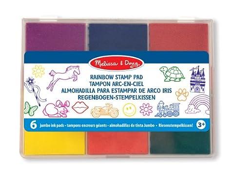 Melissa & Doug Rainbow Stamp Pad - 6 Washable Inks