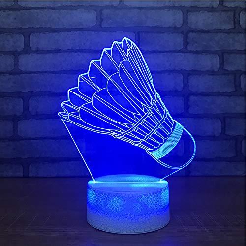 Nachtlichter Geschenk Kinder Touch Button Home Decor Leuchten Usb 3D Led Nachtlichter Visual Badminton Modellierung Schlafzimmer Beleuchtung Schreibtisch Tischlampe