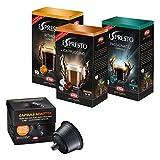 Kapsel Adapter Set, passend für Dolce Gusto Maschinen, Espresso, Lungo, Cappuccino, Kapseladapter, 48 Kaffee Kapseln