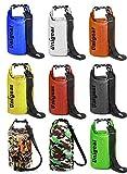 Unigear Sacco Dry Bag Borse Impermeabile, Dry Bag Galleggiante può Essere Usato per la Navigazione, Trekking, Kayak, Canoa, Pesca, Rafting, Nuoto, Campeggio, Sci e Snowboard con Omaggio Gratuito di Una Custodia Telefono Impermeabile Universale (Giallo, 5L)