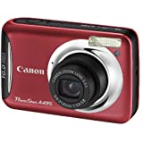 Canon PowerShot A495 Digital Camera - Red (10MP, 3.3x Optical Zoom) 2.5 Inch TFT Screen