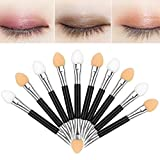 Wide Usage: -These compact disposable eye shadow brushes cater to your various needs in daily life and work.  -Clean and sanitary eye shadow brushes suit someone who makes up regularly -Dual sided design allow you to apply diverse colors eye shado...
