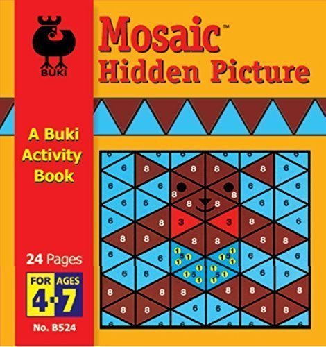 Buki Small Activity Book MOSAIC HIDDEN PICTURES (B524) by Buki