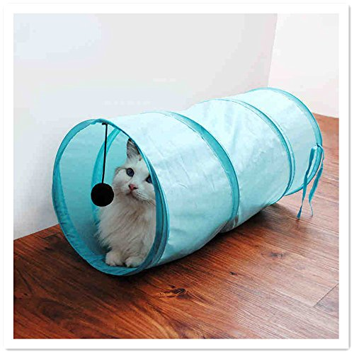 sp.katze/EQLEF® Pieghevole Cat tunnel del giocattolo Mini Cat Tenda per gatto intrattenimento