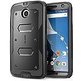 i-Blason Housse Nexus 6, [Ultra résistant] ** Protection fine Google Nexus 6 Armorbox Serie [Double Couche] Housse hybride avec Protection intégrale pour Motorola Nexus 6 Smartphone (Noir/Noir)