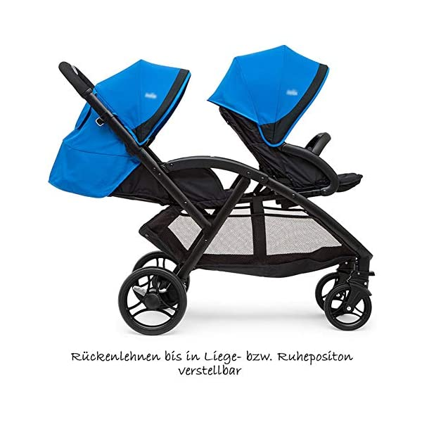XUE Twin Baby Strollers, Front And Rear Reclining Doubles With 5-Point Safety System And Multi-Positon Reclining Seat Extended Canopy Easy One Hand Fold Large Storage Basket XUE ∵ Wipeable and washable design for easier cleaning. ∵ Convertible high chair becomes booster and toddler seat. ∵ Keeps little ones secure with 3-point and 5-point harnesses. 2