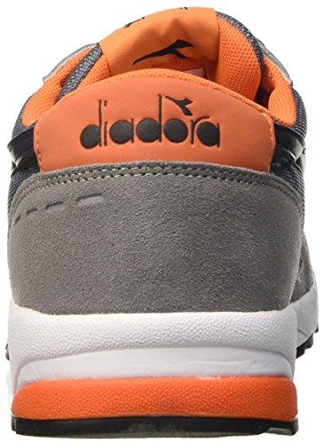Diadora Run 90, Pompes à plateforme plate homme Grigio (Grigio Ghiaccio)