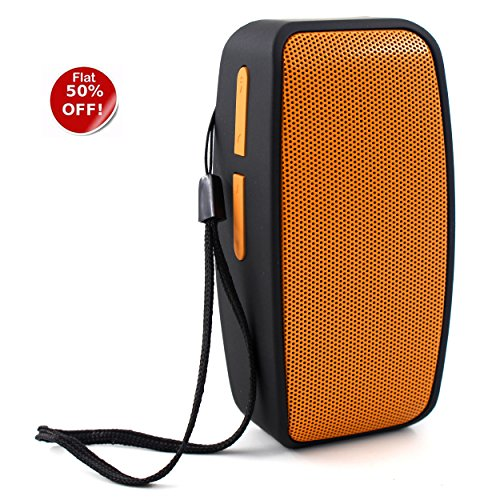 eZe Sonilex Wireless Bluetooth Speaker with mic, Crip effect with Inbulit FM radio Plug & Play USB Port Memory card slot Aux Android Mobiles/ Tablets, Laptops & Gaming Consoles EZ178-Peachy Orange