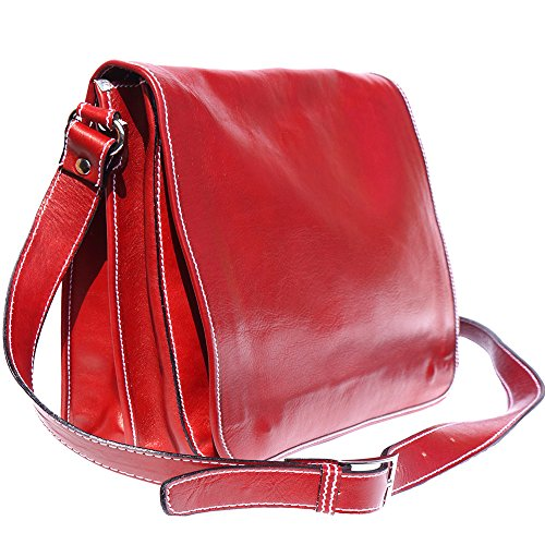 CARTELLA CON TRACOLLA(6517) Rosso