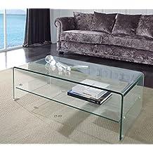 Mueble Auxiliar - Mesas de Centro Modernas - Cristal con Estante CT-221 - iBERGADA